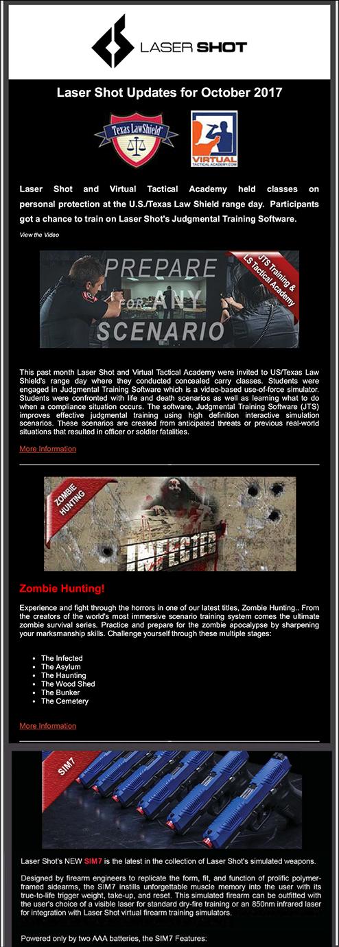 Laser Shot Launches Newsletter - News