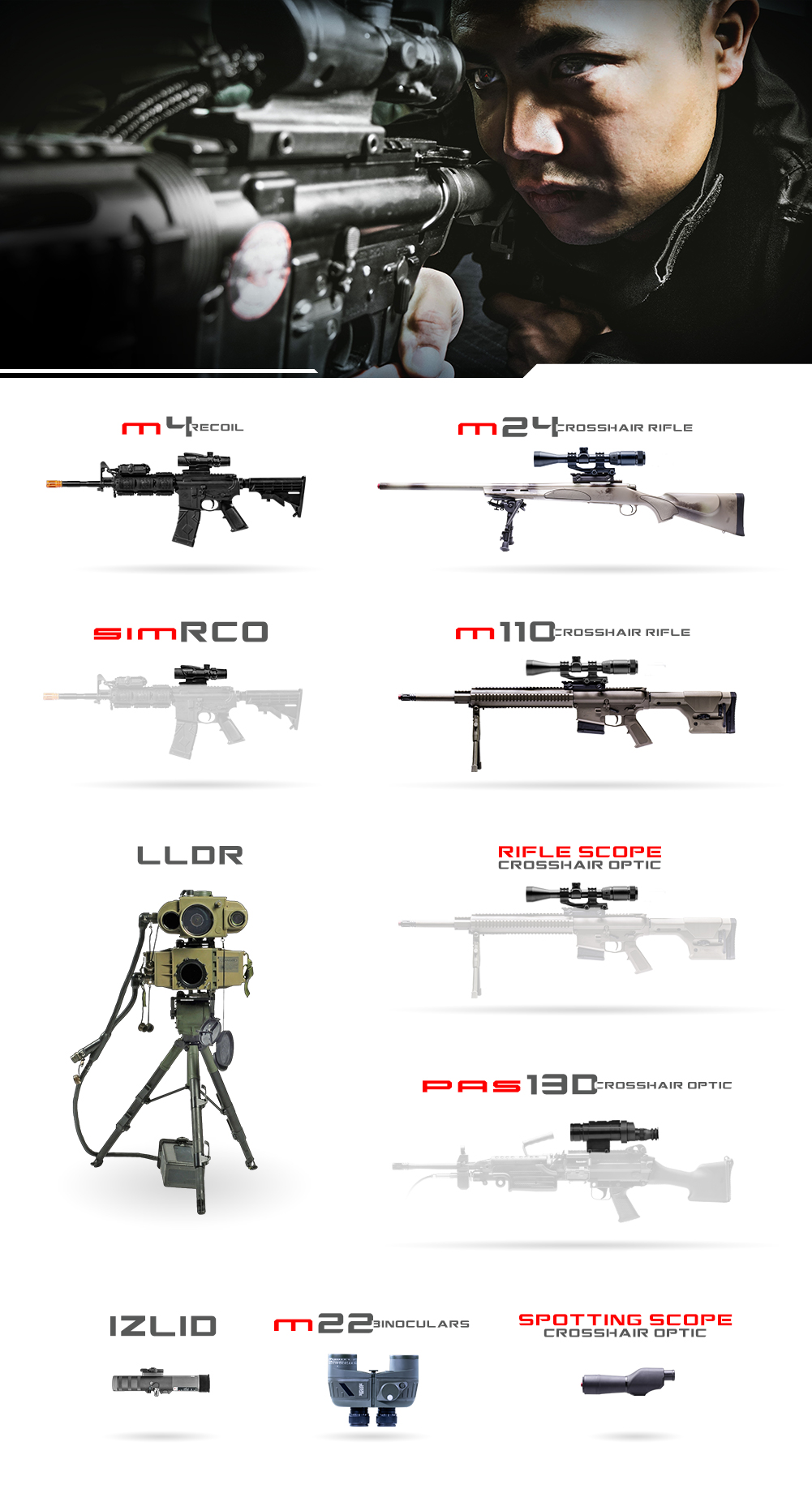 Crosshair Weapons Graphic MIL