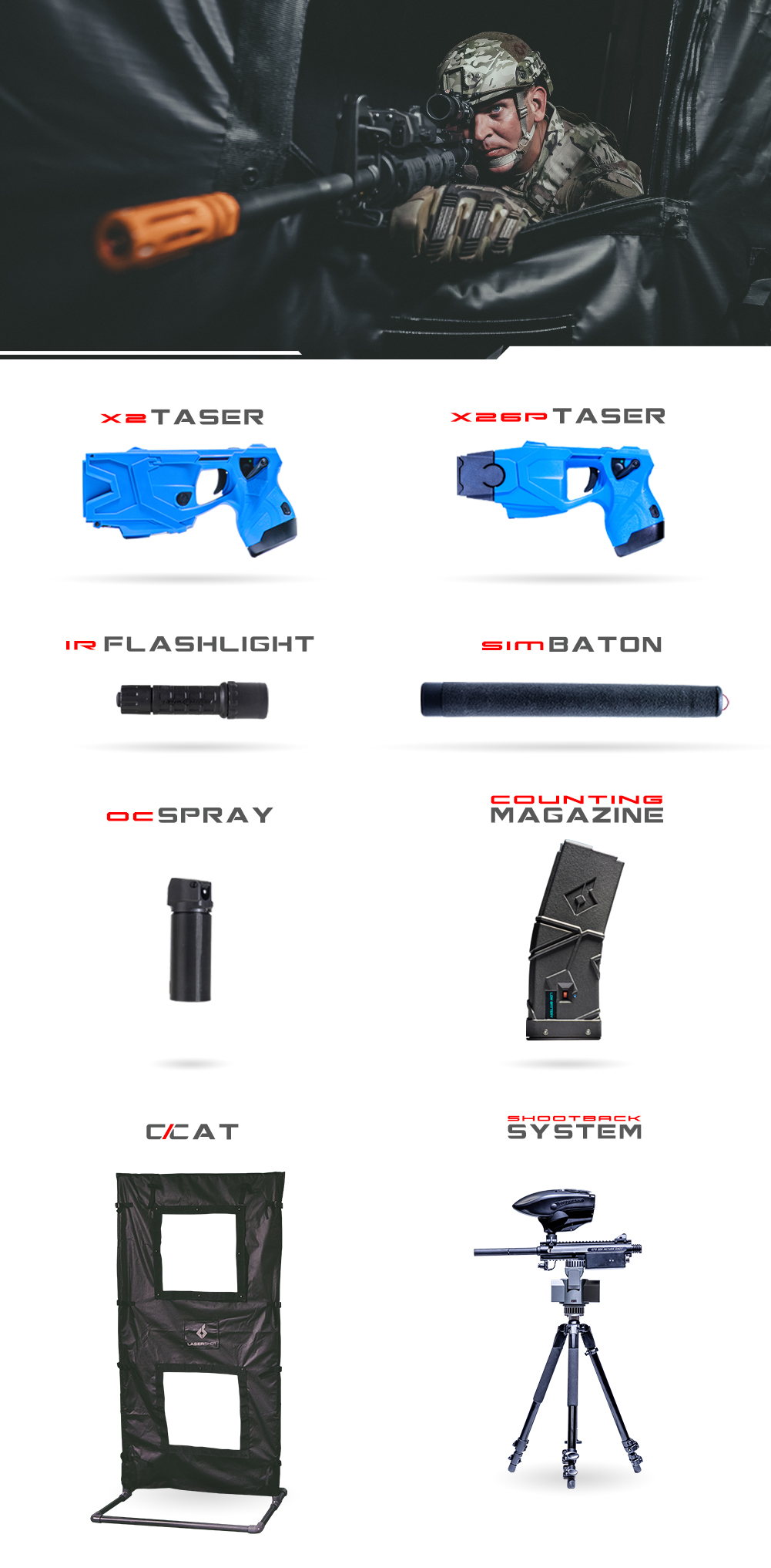 Non Lethal Weapons Graphic MIL